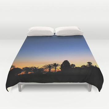 Sunset Moon Duvet Cover by Sean Foreman