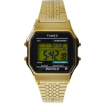 Timex Classic Digital Goldtone Bracelet Watch