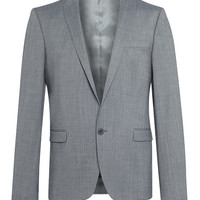 The Idle Man Suit Jacket in Skinny Fit - Grey
