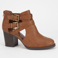 Soda Scribe Womens Booties Tan  In Sizes