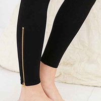 Out From Under Side-Zip Ponte Legging- Black