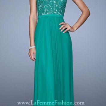 All Over Lace Applique Prom Dresses By La Femme