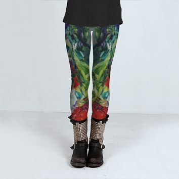 Red Poppies by Ginette Callaway (Leggings)