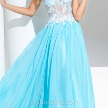 Corset Rosette Prom Gown by Tony Bowls Le Gala