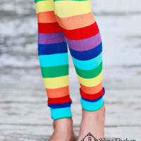 Leg Warmers - Rainbow Stripes