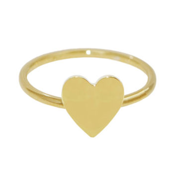 14K Gold Heart Stackable Ring: Personalized Boutique, Inc.