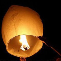 10 Sky Lanterns - White: Home & Kitchen