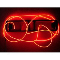 9ft Red Neon Glowing Strobing Electroluminescent Wire (El Wire): Home Improvement