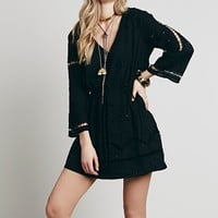 Free People Womens Odile Mini Dress - Black
