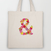 Flower Ampersand Tote Bag by Sandra Arduini | Society6