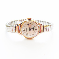 Vintage Russian Gold plated Lady&#x27;s Watch SEKONDA