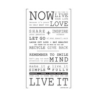 Now Is The Time Wall Decal