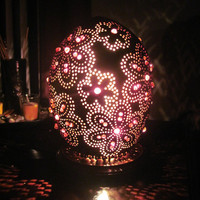 accent flower table lamp