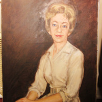 Vintage Oil Painting Portrait of Woman in by sweetlynetreasures