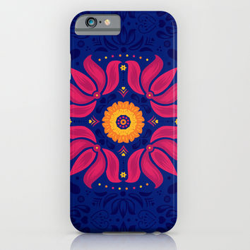 Folk Blossom iPhone & iPod Case by Swissette