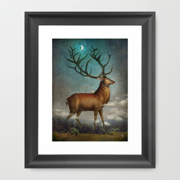 King of the Night Framed Art Print by Christian Schloe