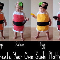 Sushi Costume- Kids Costume-Childrens Costume- Halloween Costume- Sushi