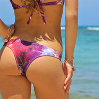 Aloha Lani Kai REVERSIBLE Cheeky Brazilian Bikini Bottoms (50+ Fabric Choices) Custom Made by Peace of Paradise Creations
