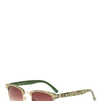 Green With Floral Sunglasses | Mod Retro Vintage Glasses | ModCloth.com