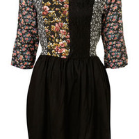 Black Mix and Match Dress - Fit & Flare Dresses - Dresses - Clothing - Topshop USA