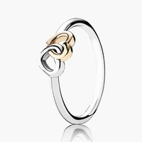 Women's PANDORA 'Heart to Heart' Ring - Sterling Silver/ Gold
