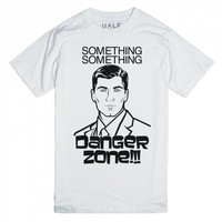 Danger Zone-Unisex White T-Shirt