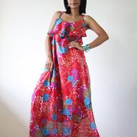 Long Summer Dress Maxi Floral Bohem.. on Luulla