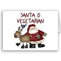 Santa Is Vegetarian Christmas Card from Zazzle.com