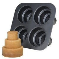 Amazon.com: Chicago Metallic Multi Tier Cake Pan 4 Cavity, 10.6 x 9.60 x 4.5 Inch: Kitchen &amp; Dining