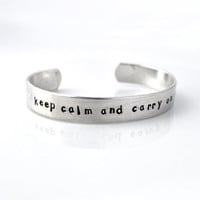 Personalized Metal Cuff Bracelet, C.. on Luulla