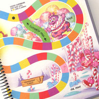 Sketchbook Journal CANDYLAND  Made from an actual game board