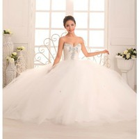 Sweetheart Tulle A-Line Princess Gown With Beads And Sequins Style @YSP40000-9
