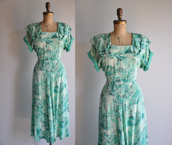vintage rare 1940s pure silk Rome and His by simplicityisbliss