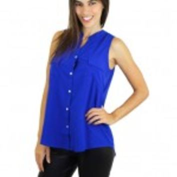 Royal Blue Sleeveless Top