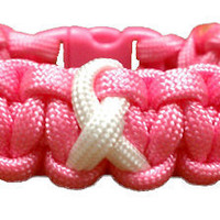 Support Breast Cancer Awareness Paracord Bracelet