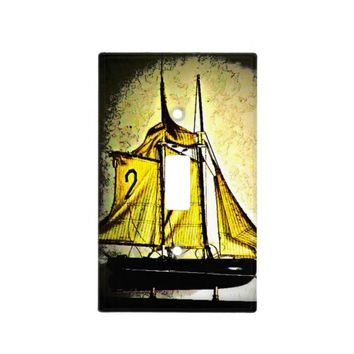 Sailboat Light Switch Cover