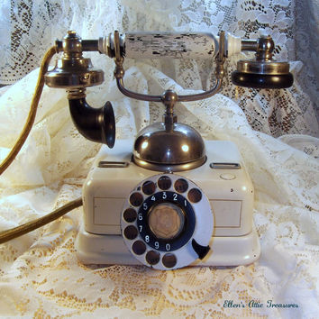VINTAGE  Antique Danish Telephone  by EllensAtticTreasures on Etsy