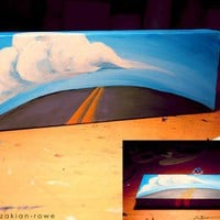 The Road and The Sky  Original Acrylic by BrandyKayzakianRowe
