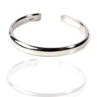 Sterling Silver Toe Ring Plain 925 Solid Band,One Size Fits All Flexible: Jewelry