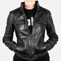 Members Only: Leather Jacket Black, at 52% off!