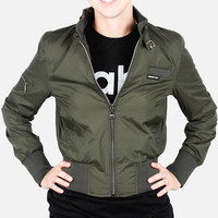 Members Only: Nylon Bomber Jacket Army Green, at 45% off!