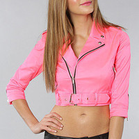 The Crop Moto Jacket