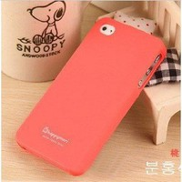 Amazon.com: (HK) Peach Red Profusion Candy Color Silicone Rubber Protector Protective Case Cover for iPhone 4 4G 4S: Cell Phones &amp; Accessories