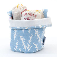 Rosemary Recycled Canvas Bucket (Blue) - Large