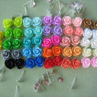 104 Pieces - Mini Rose Flower Caboc.. on Luulla