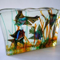 1950s Cenedese Murano Art Glass Aquarium by mascarajones on Etsy