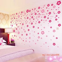 Vinyl Wall decal,wall Decor, wall art wall sticker,,Murals,Graphic wall art -  200pieces flowers