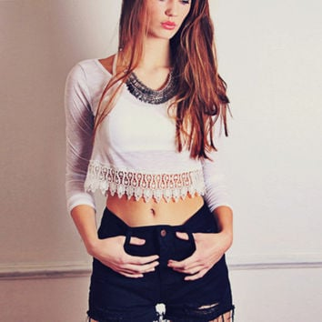 Easy Way Out Lace Top