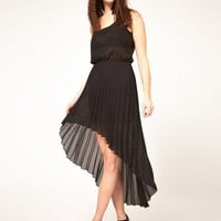 Free Shipping Midi Dress with Pleated Skirt
