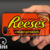 iPhone 5 case, Reese's Peanut Butter Cup design, custom cell phone case, original design